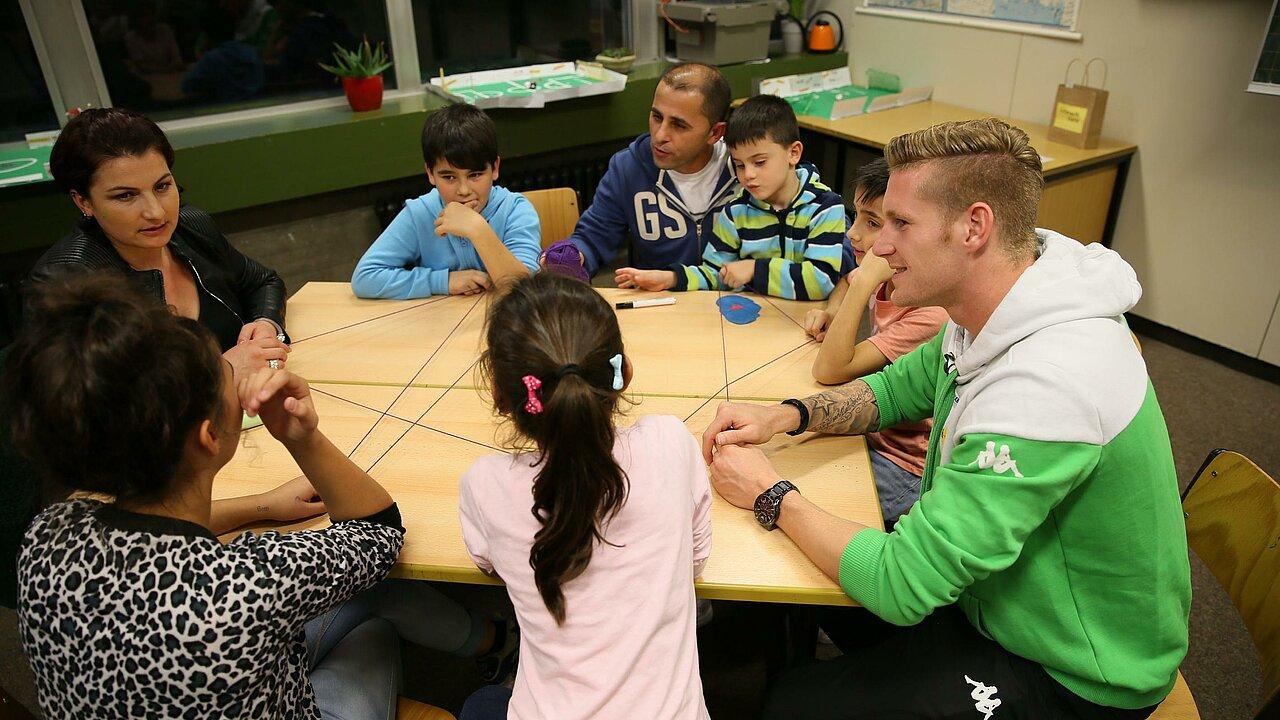 Fußballprofi kennenlernen